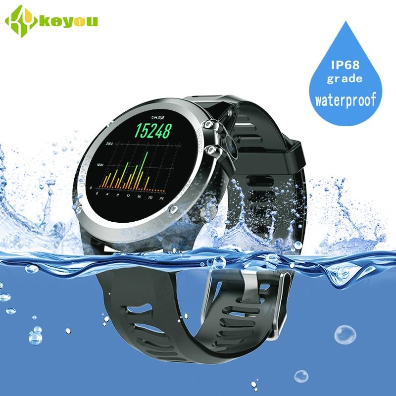 Keyou H1 waterproof IP68  smartwtach watch Heart Rate Tracker Professional  watches  gps smart watch android 512M+4GB  MTK6572 smart baby watch q60s детские часы с gps голубые