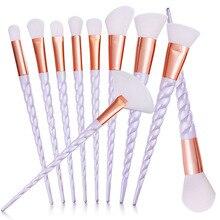 Hot 10pcs Unicorn Makeup Brushes Set Foundation Eyeshadow Base Powder Blush Blending Brush Cosmetic Tools