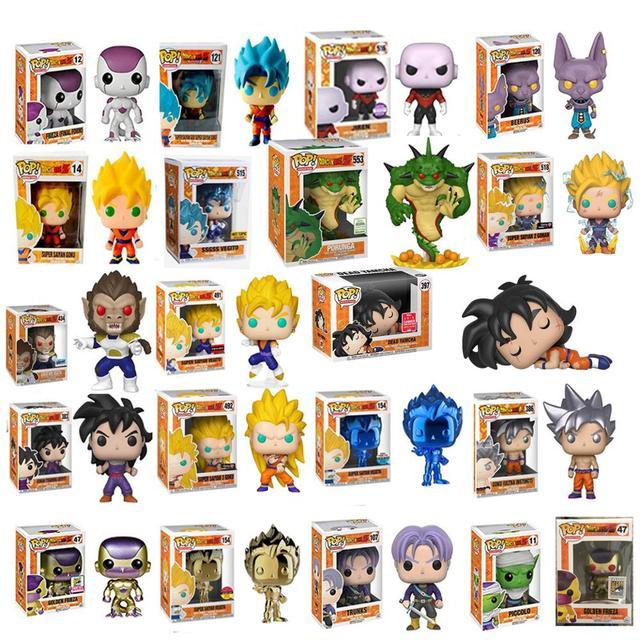 Funko pop PORUNGA Amina Dragon Ball SUPER SAIYAN GOKU FRIEZA de Ouro GRANDE VEGETA Action Figure Collectible Modelo de Vinil com caixa