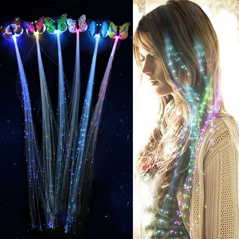 LED Flashing Hair Braid Glowing Luminescent Hairpin Hair Ornament Girls Party Accessories Christmas Gift LED Toys