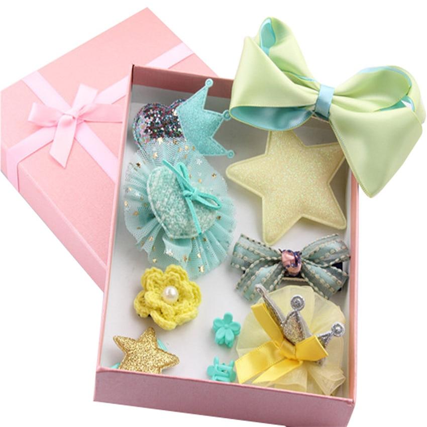 NEW 10Pcs Kids Baby Girl cute Sweet Cartoon animal motifs Hair Clip Set charming Headdress girls gifts