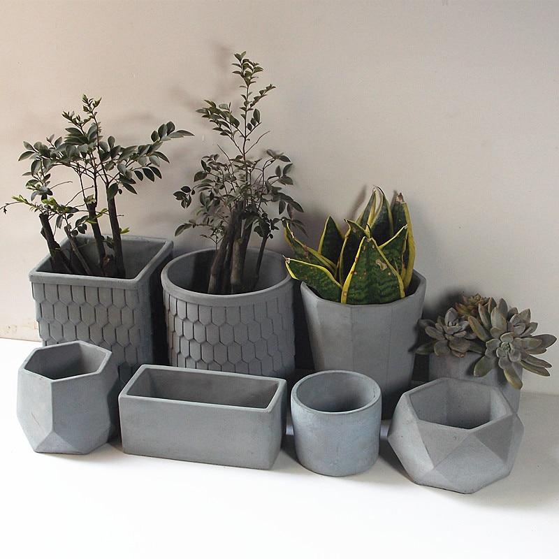 Plant Flower Concrete Mold Flower Succulent Square Silicone Mold Pot Mold FI