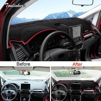 Tonlinker Cover Case Stickers For Ford Ecosport 2018 Car Styling 1 PCS Polyester Dashboard Car Anti