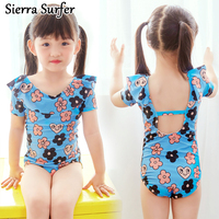 Bathing Suit Girls Junior Swimsuit Baby Clothes Swimwear Suits 2018 Children Flowers With Short Long Sleeve