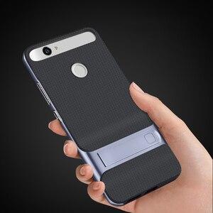 Image 4 - Luxus 3D Ständer Funda für Huawei Nova CAN L11 CAZ AL10 Hybrid Fall Silikon Abdeckung 5,0 TPU + PC 360 Schutz Mobile telefon Tasche