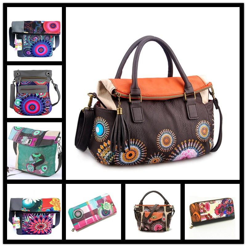 Discount 2018 Famous brand bolsos women desiguers bag Painting women <font><b>handbag</b></font> canvas bag Fashion shoulder bags sac a main