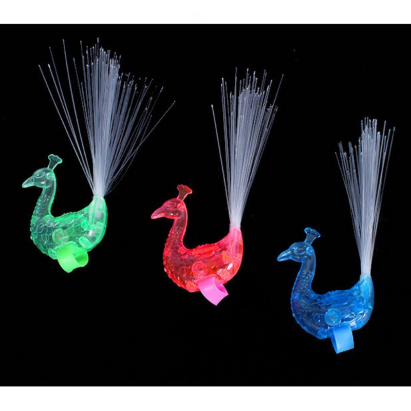 Baby Toy Finger Light Optic Open Fiber Color To Sell Random) 1 Battery) (color Peacock One (with