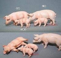 Frete grátis high quaility Animas! porca javali leitão brinquedo sólido modelo animal decoração, família do porco, 4 pçs/lote