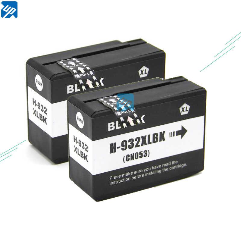 يصل العلامة التجارية 2PK متوافق ل hp 932 خراطيش الحبر ل hp 932 932XL OfficeJet 6100 6600 6700 7110 7610 7612 الطابعة مع رقائق