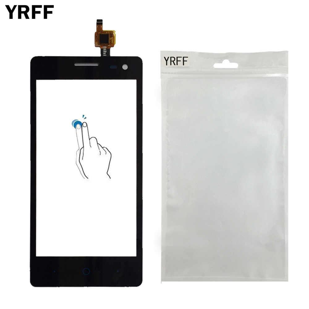 YRFF 4.5 ''المحمول الجبهة اللمس الزجاج ل ZTE شفرة GF3 GF 3 محول الأرقام بشاشة تعمل بلمس لوحة بالسعة الاستشعار أدوات غشاء واقي