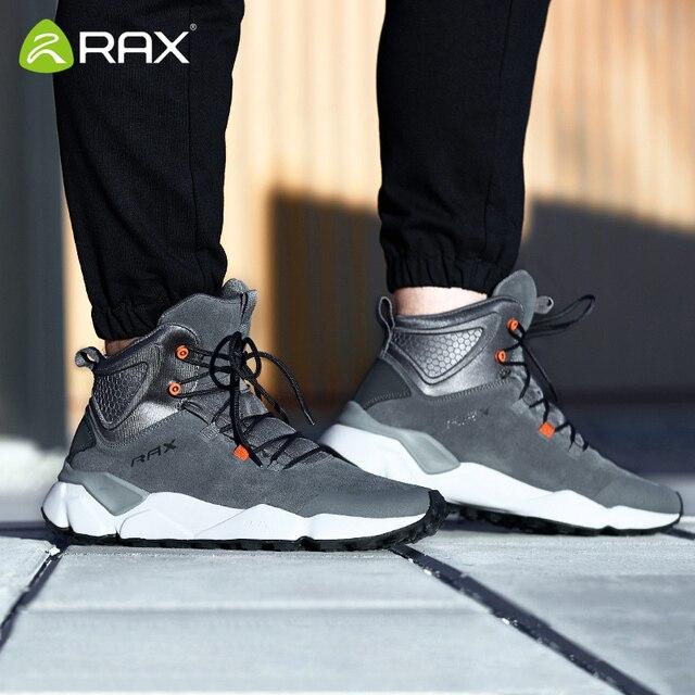 Rax 2018 invierno más nuevos zapatos de senderismo hombres deportes al aire libre Snearker para hombres botas de montaña antideslizantes calientes botas de nieve impermeable 470