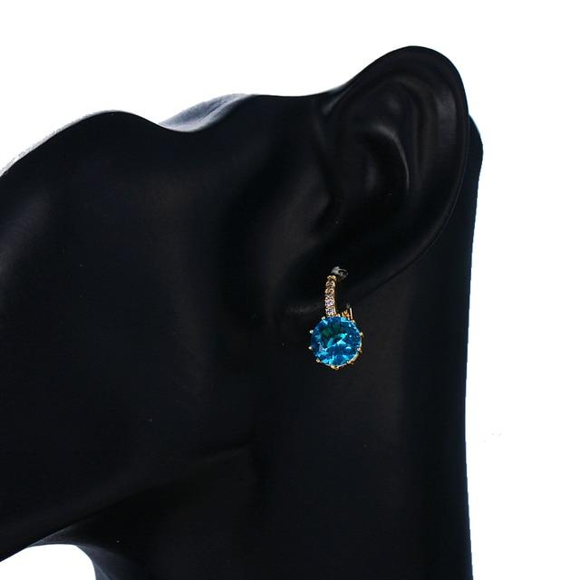 10 Color AAA CZ Element Stud Earrings 4