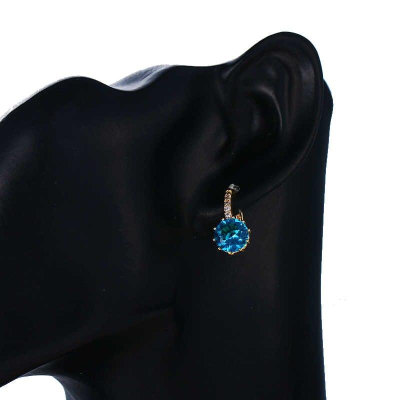 EMMAYA moda 10 colores AAA CZ elemento pendientes de tachuela para mujeres venta al por mayor Chea precio de fábrica