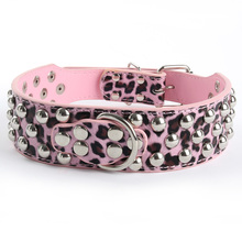 Leather Rivet Studded New Dog Collar Large Pet Pitbull Bully Terrier Collars Large