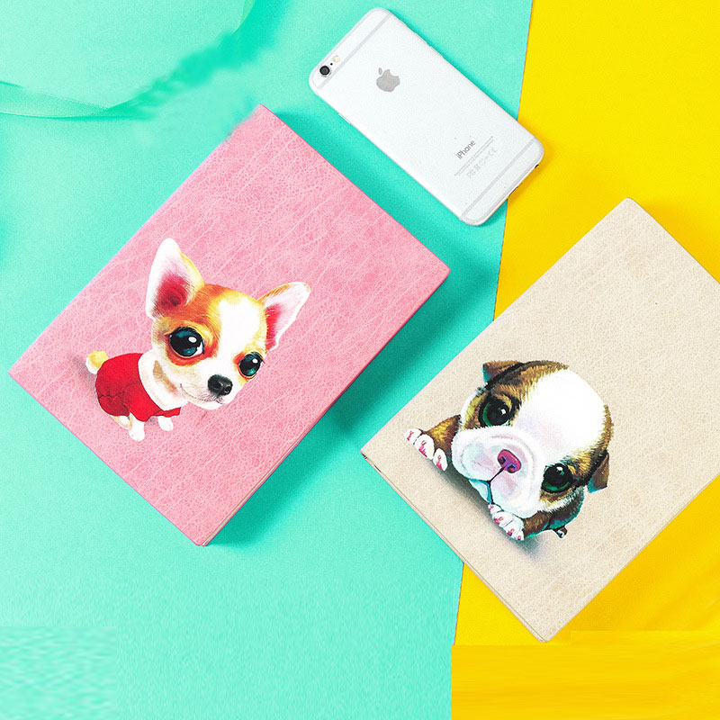 Cute Pet Dog 2018 Monthly Planner Book A5 Agendas Notebook Korean Fashion Printed Agenda Scheduler School Filofax Diary Gift cute colorful floral design portable daily 2018 planner lovely doll girl scheduler 256p 11 8 15 4 2 3cm agenda gift