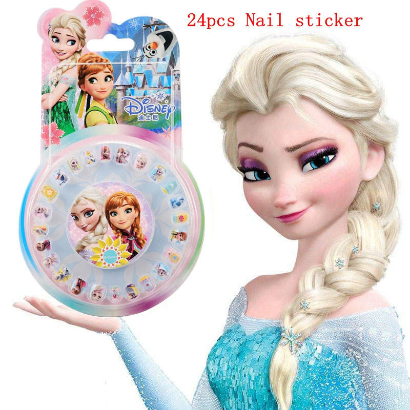 Beauty & Fashion Toys Disney Children's personality cartoon waterproof nail sticker Frozen little princess Sophia nail stickers disney beauty
