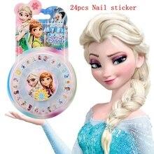 Belleza y juguetes de moda Disney personalidad de los niños de dibujos animados a prueba de agua pegatina de uñas Frozen little princess Sophia pegatinas de uñas
