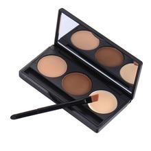 2016 New 3 Colors Waterproof Eyebrow Enhancer Cake Powder Makeup Cosmetics Eyebrow Palette Eye Sobrancelha Shadow Brow Set Kits