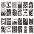 10Pcs/lot Nail Art Stamping Plate Acrylic Templates Lightweight Portable Plastic Stamp Plates Rectangle