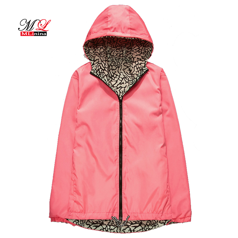MLinina Windbreaker Reversible Quick Dry Out Work   Jackets   Wear Couples Thin Autumn New   Basic   Fashion Casual Outwear 3XL Coat