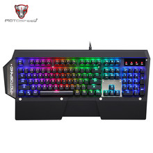 Motospeed CK88 NKRO Wired USB Mechanical Keyboard Black Illuminated Gaming Keyboard RGB LED Indicator backlight for PC LOL DOTA2(China)