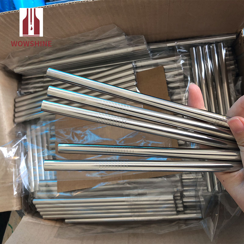 New! Free Shipping Rust Free Stianless Steel Drinking Straws For Tumbler Diameter 9.5mm Length 267mm Straight 20pcs/lot