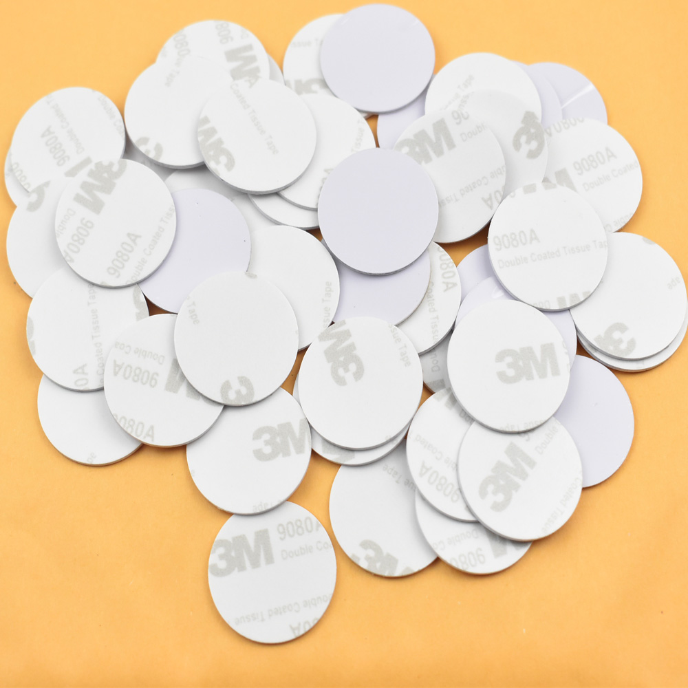 30pcs/lot 13.56MHZ NFC Tags Ntag213 ISO14443A NFC Coin Card With 3M Adhesive Sticker(25mm)Support Any NFC Function Smart Phone 100pcs lot ntag213 nfc tags rfid adhesive label sticker compatible with all nfc products size dia 25mm pvc with 3m glue