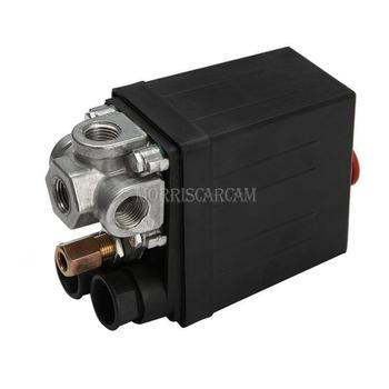 Compresseur dair robuste 175psi 220V 20A | Vanne de contrôle de pression, interrupteur, 4 ports
