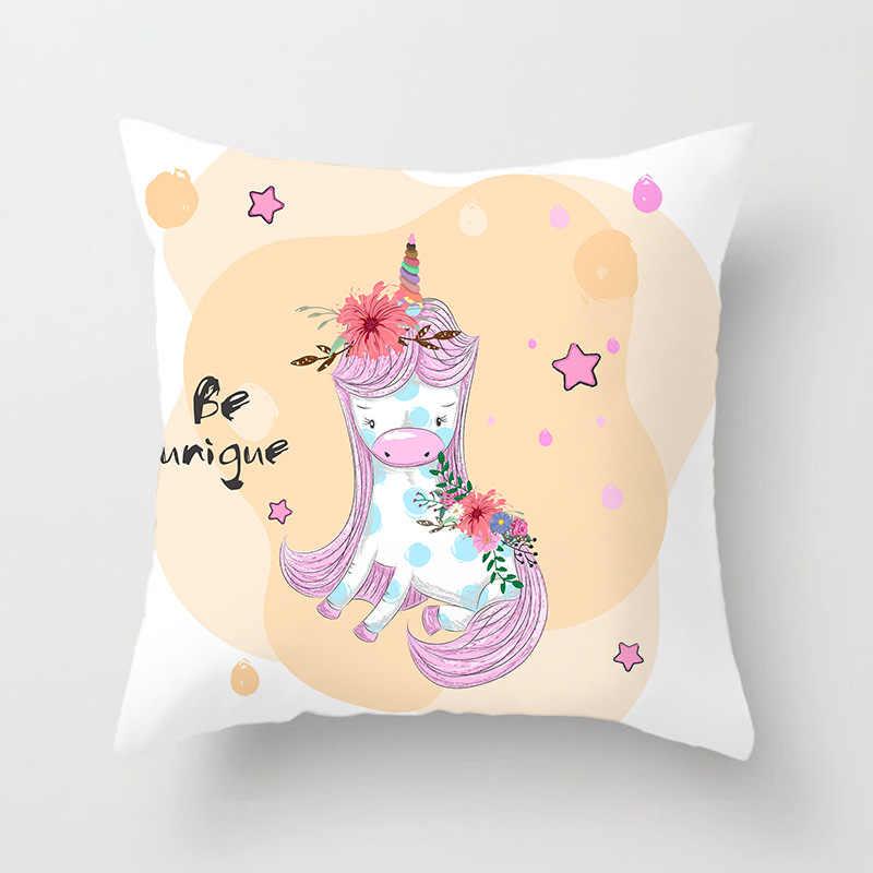 曼荼羅熱帯フラミンゴパターン装飾枕ユニコーンクッションカバーポリエステル枕 Pillowcover