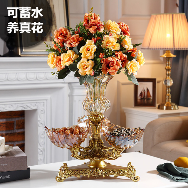 Awesome Us 238 98 European Crystal Glass Fruit Platter Modern Living Room Creative Home Coffee Table Candy Bowl Ornament Vase Flower Arrangement In Vases Interior Design Ideas Grebswwsoteloinfo