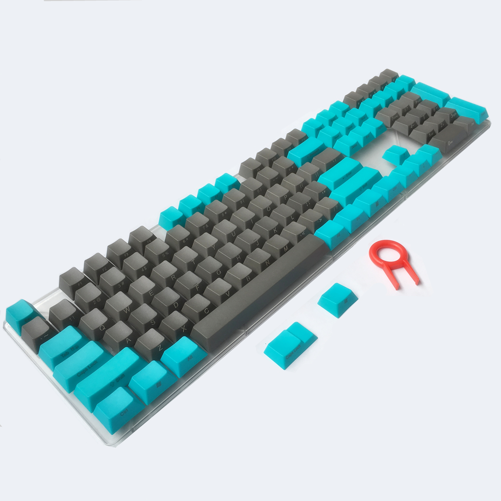 PBT keycaps Side/Front Printed ANSI Cherry MX Key Caps Blue Gray For 87/104/108/Anne Pro 2 Switches Mechanical Keyboard
