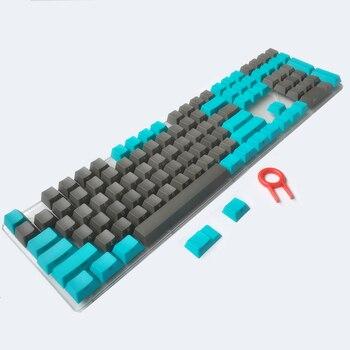 Teclas PBT con impresión lateral/frontal ANSI Cherry MX, teclas azul gris para teclado mecánico 87/104/108/Anne Pro 2 MX