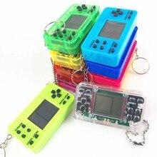 Мини Прозрачная портативная игра для Tetris гоночный автомобиль игра-головоломка детская игрушка портативные игры сумка Подвеска подарок