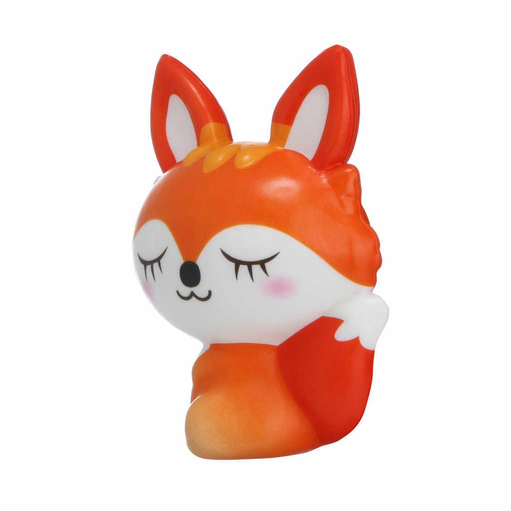 Serrer doux Squishies jouet Kawaii Adorable renard jouet lente hausse crème parfumée soulagement du Stress jouets cadeaux cadeau drôle Z0325