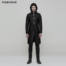 New Punk Rave Classic Gothic Black Vintage Gorgeous Victorian Retro Three-quarter Men's Coat Jacket WY850
