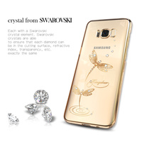 Phone Cases For Samsung Galaxy S8 S8 Plus Luxury Electroplated Hard PC Cover With Crystals From
