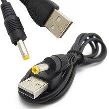 1 шт. 1,2 м чистый Медь черный 1A USB 5V DC/DC 4,0x1,7 мм Мощность Зарядное устройство кабель из чистой Медь черного цвета для sony Оборудование для psp 4,0 Интерфейс Универсальный