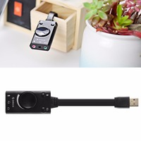 External USB Sound Card Audio Adapter 3 5mm Headset Mic Mute Speaker Volume Adjustment For PC