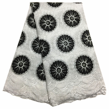 High Quality African Embroidered Swiss Cotton Voile Lace Fabric