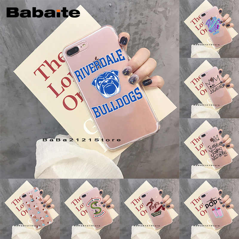 Babaite Hot TV Riverdale Soft Clear TPU Phone Case For iPhone X 8 7 6 6S Plus SE 5 5S Phone Back Cover For iPhone 8 Cases Coque