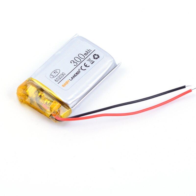 602030 3.7 В 300 мАч Перезаряжаемые литий-полимерная литий-ионная Батарея для MP3 MP4 MP5 GPS DVR Bluetooth Динамик игрушки 591929 062030 552030