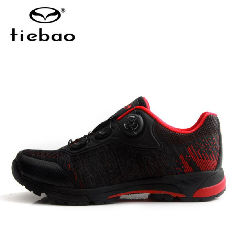 Tiebao Men Cycling Shoes Cycling Equipment Road Racing MTB Shoes PVC Soles Mountain Bike Shoes Triatlon Zapatillas Ciclismo
