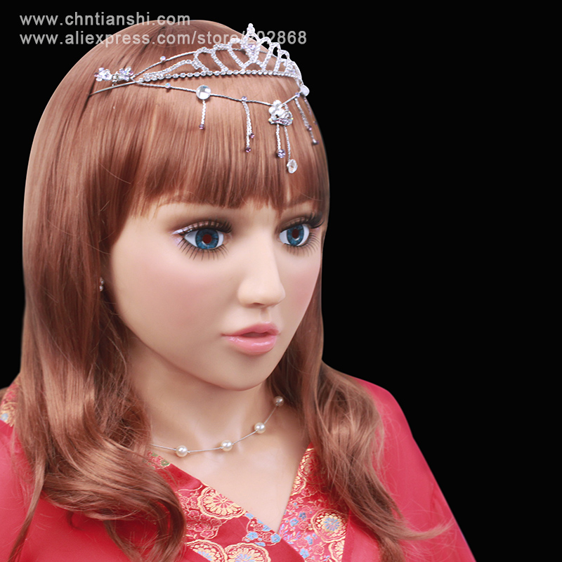 [SF-10]party crossdress masquerade fancy-dress costume nightclub Lolita female silicone mask/props fixed with string binding