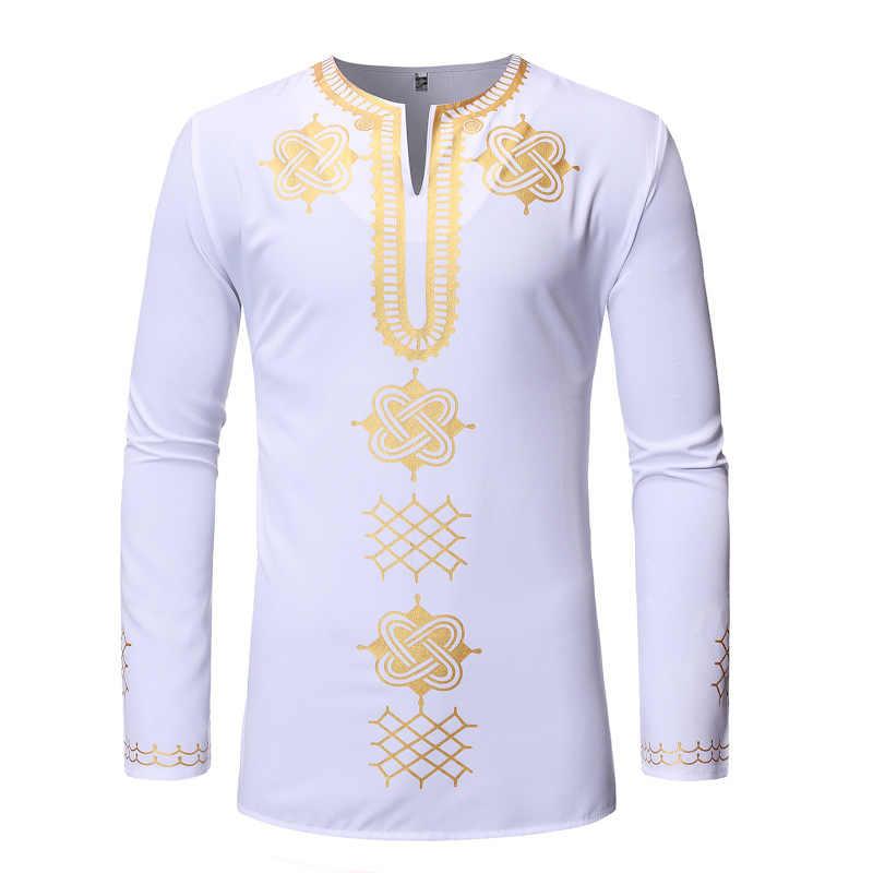 男性黒アフリカ服 2019 真新しいアフリカ Dashiki プリントメンズドレスシャツヒップホップストリートシャツ男性アフリカ服