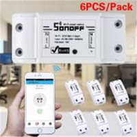 6PCS Sonoff Wifi Switch Universal Mobile Phone APP Remote Wifi Wireless Remote Control Time Socket Switch