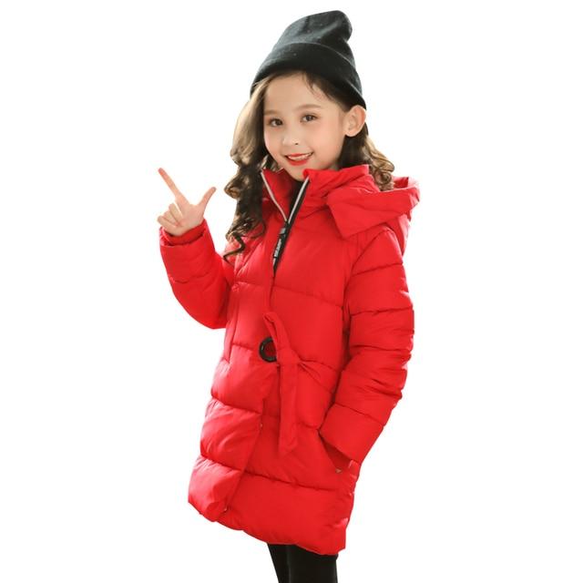 833980bfef37 4 13 years girls cotton coat padded children s winter Hooded kids ...