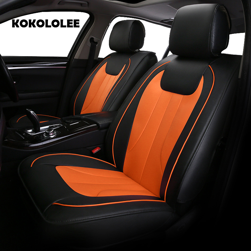 KOKOLOLEE pu leather car seat covers for Jaguar Landrover Lexus Cadillac Porsche car accessories auto styling Automobiles cover back seat covers leather car seat cover for bmw e30 e34 e36 e39 e46 e60 e90 f10 f30 x3 x5 x6 car accessories car styling