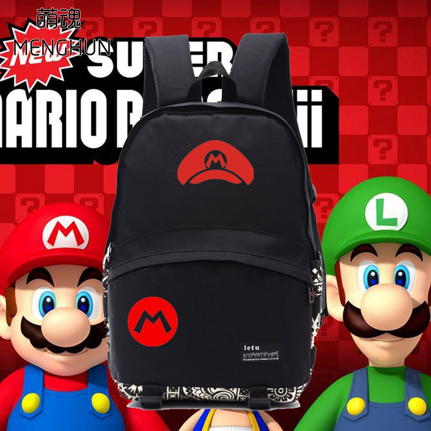 Lovely new designed Mario concept Backpack Super mario brothers mario party game fans backpacks black nylon school bag NB060 wallpapers youman 3d brick wallpaper wall coverings brick wallpaper 3d embossed non woven background roll desktop home decor