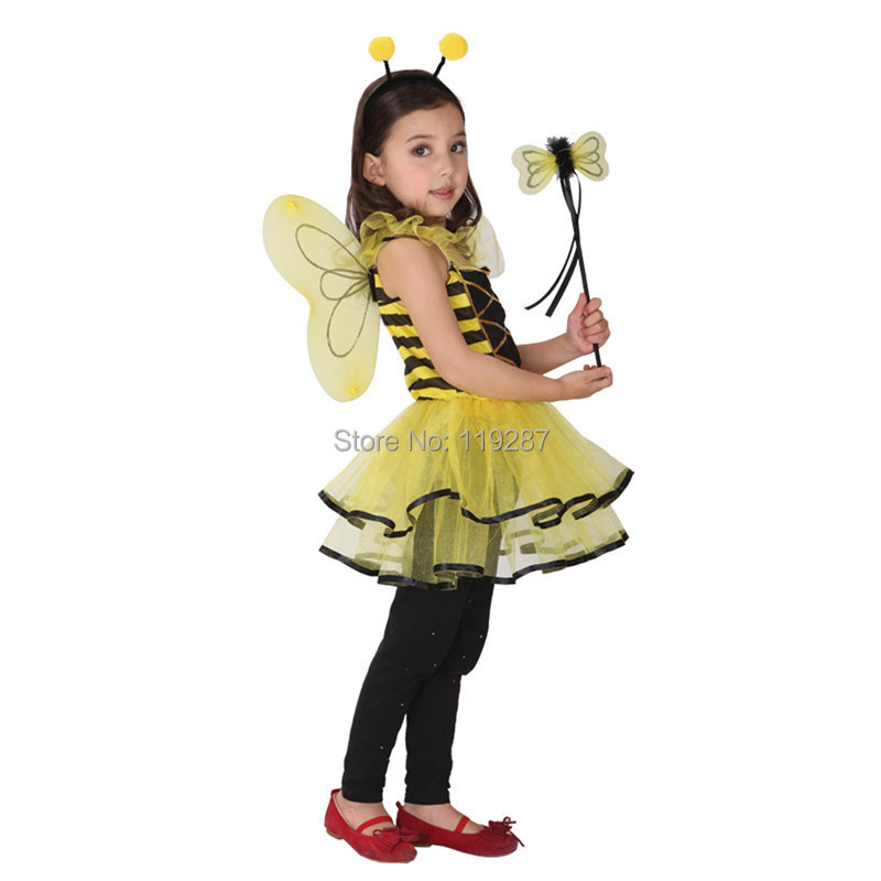 buy retail cute ladybug fairy halloween costumes for kids girls dresses little girl dragonfly dance princess costume from