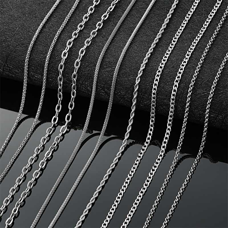 AZIZ BEKKAOUI Basic Chain Necklace for Men Women Corn Link Necklace Twist Chain Wholesale Jewelry 45-60cm